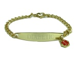 Ladies or Girls Medical ID Golden Bracelet