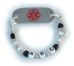Girl's ABC Medical Bracelet
