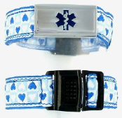 Blue Heart Medical Bracelet for Girls