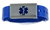 Kid's Jelly Medical ID Wrist Band Blue