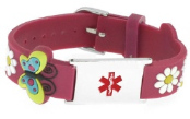 Girl's Mauve Medical ID Bracelet