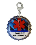 Dairy Allergy Blue Streak Charm