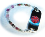 Girl's Cotton Candy Medical Bracelet