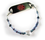 Girl's Blue Medical Bracelet