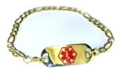 Golden Medical ID Figaro Bracelet