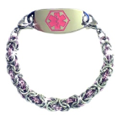 Light Rose Byzantine Medical Bracelet
