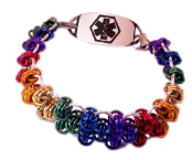 Centurian Rainbow Medical ID Bracelet