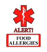 Food Allergies Medical Alert Tattoos for Kids