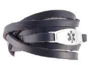 Leather Wrap Medical Bracelets