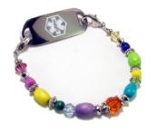 Mardi Gras Medical Bracelet