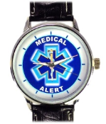 Medical Alert Watch Leather