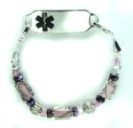 Midnight Mauve Medical ID Bracelet