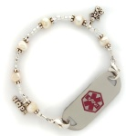Angel Charm Medical Alert ID Bracelet