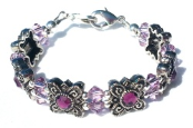 Amethyst Allure Medical ID Bracelet