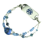 Blueberry Swirl Medical Bracelet