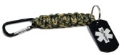 Medical ID Paracord Link Key-Chain