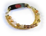 Golden Duo Medical Bracelet