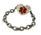 Medical ID Heart Bracelet