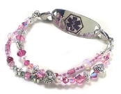 Hearts-n-Flowers Medical Bracelet