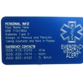 Medical ID Wallet Card