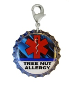 Tree Nut Allergy Blue Streak Charm