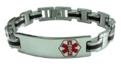 The Gentleman Medical ID Bracelet Red