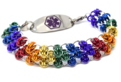 Centurion Rainbow Medical ID Bracelet