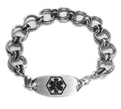 Round Table Medical ID Bracelet for Men