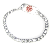 Stainless Steel Figaro Medical Bracelet