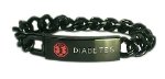 Black Chain Medical Bracelet for Men