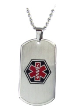 Silver EMS Medical Necklace