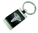 Black Medical Id Key Ring