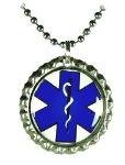 Blue Cap EMS Necklace