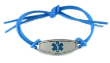 Blue Rubber Medical Bracelet