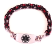 Byzantine Red, Silver, and Black Medical Bracelet