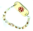 Chantilly Pearls Medical ID Bracelet