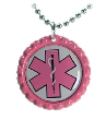 Double Pink Medical ID Necklace
