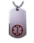 EMS Red Medical Alert ID Necklace
