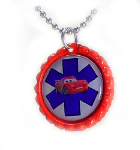 Fast Red Medical Necklace