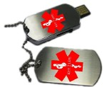 USB GI Dog Tag