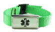 Lime Green Nylon Medical Bracelet