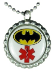 Hero Medical ID Necklace-Red