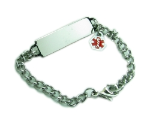 Small  Medical ID Chain Bracelet