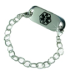 Hammered Medical ID Bracelet