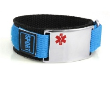 Large Medical ID Sports Band Blue