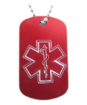 Star of Life Dog Tag Necklace-OO