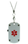 USB Dog Tag Medical Necklace