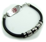 Ardent Leather Medical Alert ID Bracelet