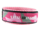 Medical ID Wrist Band Pink Camo