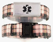 Plaid Medical Bracelet for Girls